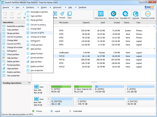 First look for EaseUS Partition master
